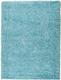 RIO Area Rug Shaggy Long Pile Plain One Colour Light Blue