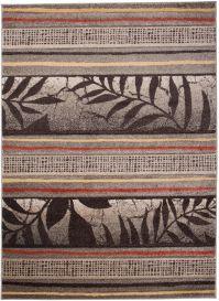 SUMATRA Designer Teppich Kurzflor Beige Braun Streifen Floral