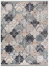 COLORADO Area Rug Vintage Mosaic Ornamental Multicolour Blue