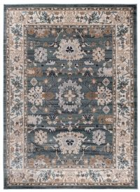 COLORADO Area Rug Traditional Classic Frame Ornamental Blue