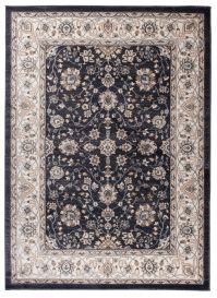 COLORADO Area Rug Traditional Classic Frame Floral Black Cream