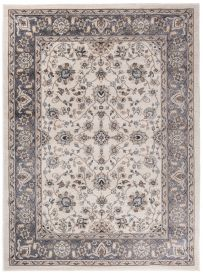 COLORADO Area Rug Traditional Classic Frame Floral Cream Grey