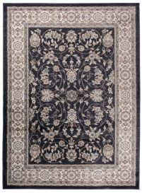 COLORADO Area Rug Traditional Classic Frame Universal Black