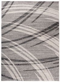 SARI Vloerkleed Grijs Korte Pool Lijnen Abstract Modern Design