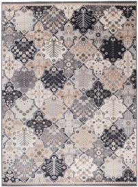 COLORADO Area Rug Vintage Mosaic Ornamental Multicolour Grey