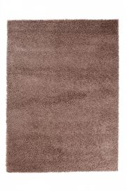 SCANDINAVIA Tapis Design Moderne Unicolore Marron Shaggy