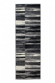DREAM Carpet Runner Modern Abstract Lines Faded Grey Black