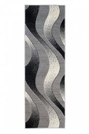 DREAM Carpet Runner Abstract Wave Abstract Hallway Durable Grey