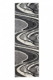 DREAM Carpet Runner Abstract Abstract Waves Durable Grey