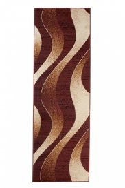 DREAM Carpet Runner Abstract Wave Abstract Hallway Durable Brown