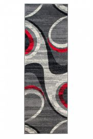 DREAM Carpet Runner Modern Abstraction Durable Light Dark Grey