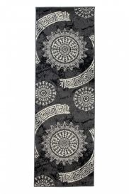 DREAM Carpet Runner Classic Decorative Greek Hallway Dark Grey