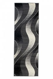 DREAM Carpet Runner Abstract Wave Abstract Hallway Durable Dark Grey