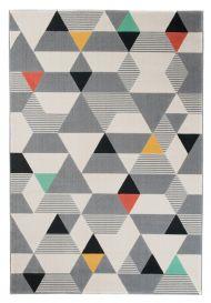 CAN Tappeto Geometrico Moderno Multicolore Grigio Nero