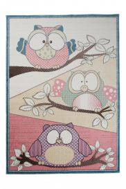 HAPPY Tapis Moderne Hibou Multicolore Doux