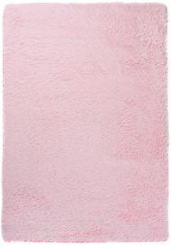 Silk Teppich Shaggy Hochflor Modern Einfarbig Rosa Langflor
