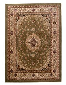 YESEMEK Area Rug Short Pile Traditional Ornament Medallion Green