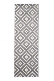 MAROKO Modern Carpet Runner Hallway Diamond Grey Cream