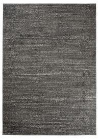 SARI Vloerkleed Zwart Modern Korte Pool Design Plain Woonsfeer