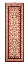 ATLAS Carpet Runner Short Pile Traditional Ornamental Red