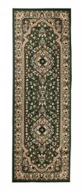 ATLAS Carpet Runner Short Pile Traditional Rosette Green