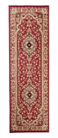 ATLAS Carpet Runner Short Pile Traditional Rosette Red
