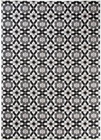 MAYA Area Rug Modern Short Pile Floral Designer Light Dark Grey