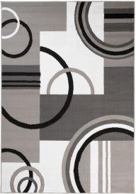 MAYA Vloerkleed Grijs Wit Abstract Cirkels Eyecather Praktisch