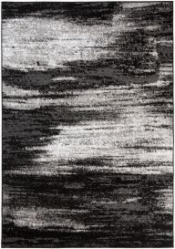 MAYA Area Rug Modern Abstract Contemporary Short Pile Grey