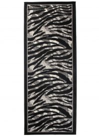 DREAM Carpet Runner Modern Wild Animal Zebra Durable Black Grey