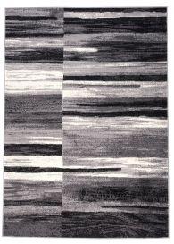 DREAM Area Rug Modern Short Pile Designer Abstract Lines Grey