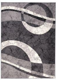 DREAM Teppich Modern Creme Hellgrau Meliert Wellen Design