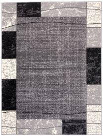 Dream Tappeto Grigio Crema Geometrico Quadrato A Pelo Corto