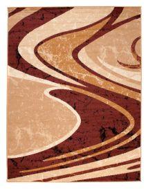 DREAM Teppich Modern Kurzflor Braun Beige Meliert Wellen