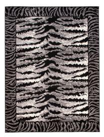 DREAM Teppich Modern Kurzflor Grau Creme Schwarz Tiger Optik