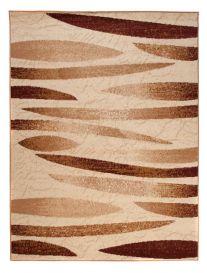 DREAM Area Rug Modern Short Pile Abstract Stripes Cream Brown