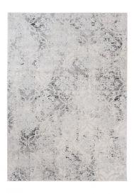 Troya Teppich Kurzflor Modern Marokkanisch Gitter Grau Ecru