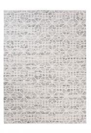 Troya Teppich Modern Marokkanisch Gitter Design Creme Grau