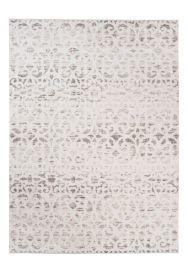 Troya Teppich Modern Marokkanisch Gitter Floral Hellbraun