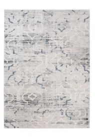 TROYA Area Rug Trellis Cream Light Grey Blurred Durable Carpet