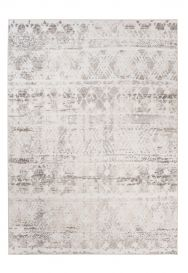 TROYA Area Rug Cream Beige Ethno Motif Durable Carpet