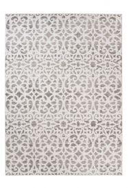 Troya Teppich Modern Marokkanisch Gitter Floral Creme Beige