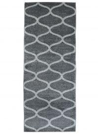 Sari Teppich Läufer Kurzflor Modern Marokkanisch Grau