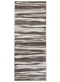 SARI Runner Carpet Hallway Abstract Lines Modern Brown Beige