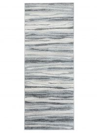 SARI Runner Carpet Hallway Abstract Lines Modern Middle Grey