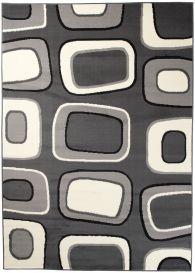 DREAM Vloerkleed Zwart Grijs Wit Abstract Design Geometrisch
