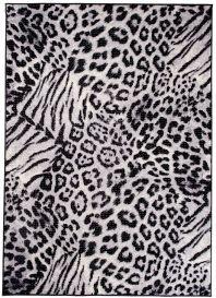 SCARLET Teppich Kurzflor Gepard Schwarz Weiss Modern Tiermotiv