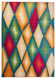 SUMATRA Area Rug Contour Cut Modern Abstract Diamond Colourful