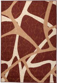 DREAM Teppich Modern Kurzflor Creme Braun Meliert Streifen