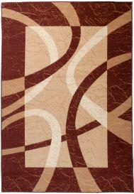 DREAM Teppich Modern Kurzflor Creme Beige Braun Meliert Wellen